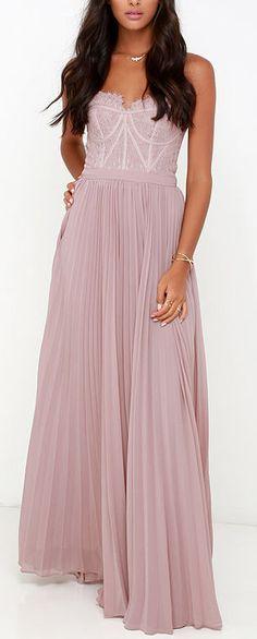 Lavender lace bustier gown
