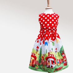 Girls Funky Gnome Party Dress by Wild Things Funky Little Dresses