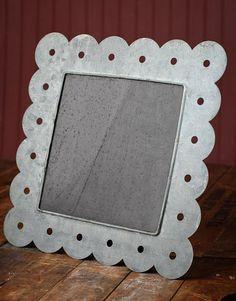 """12-1/4"""" Scalloped Gray Zinc Mini Chalkboard - Mini Chalkboards - Unfinished Wood - Craft Supplies"""