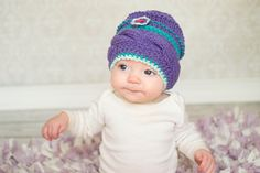 Hey, I found this really awesome Etsy listing at https://www.etsy.com/listing/212267917/knit-baby-beanie-6-month-photo-prop-6-m
