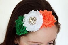 The Irish Flag Headband  Orange White & Green by MLSPhotoWorksShop, $7.50