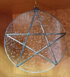 Handcrafted Stained Glass Pentagram Water Element by craftycleo, $35.00