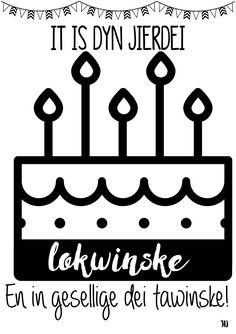 jierdei, lokwinske, Frysk, kaart, printable, verjaardag