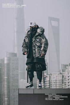 """WLS """"Dark X"""" Cloak – We Love Street Mode Cyberpunk, Cyberpunk Fashion, Urban Fashion, Mens Fashion, Fashion Outfits, Japanese Streetwear, Streetwear Fashion, Beyonce, Celine"""