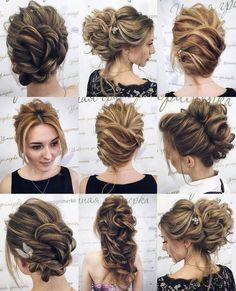 Tonya Pushkareva Long Wedding Hairstyle for Bridal via tonyastylist/ http://www.himisspuff.com/long-wedding-hairstyle-ideas-from-tonya-pushkareva/21/