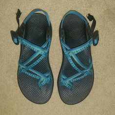 Women's ZX2 Yampa Chacos Women's ZX / 2 Yampa Chacos in the color River. I have worn them for about a year, they are SO comfortable and a beautiful turquoise color. They do have some mild wear, but they still feel brand new, and the sole and grip of the shoe is unchanged. These shoes can last a lifetime! Feel free to ask me any questions or request more pictures! Chacos Shoes Sandals