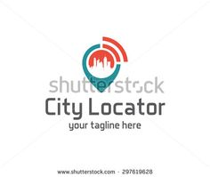 City locator design vector template. Pin maps symbol vector . Gps icon design vector. Simple clean design Gps locator logo vector.