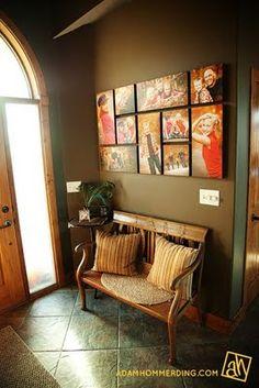 canvas photo wall - love love love this.