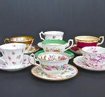 Vintage teacups for hire for weddings and events