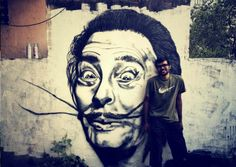 Gorgeous Dali graffiti - India...