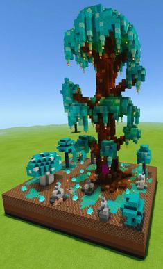 Minecraft Tree, Minecraft Structures, Cute Minecraft Houses, Minecraft Medieval, Minecraft Room, Minecraft Plans, Minecraft House Designs, Amazing Minecraft, Minecraft Survival