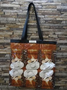 Eduscho Melange Kaffeetasche von kavaWerkstatt auf Etsy Reusable Tote Bags, Etsy, Carry Bag, Coffee, Dime Bags