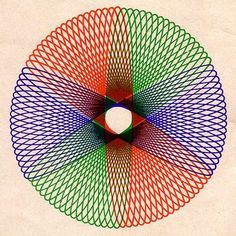 Spirograph rings.  I have a 1967 spirograph and tried this one recently, and it didn't come out very good, lol.