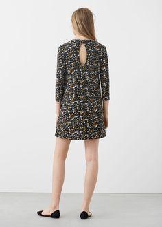 Back vent dress | MANGO $26