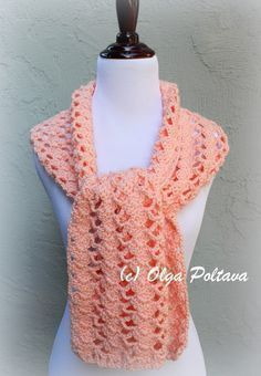 Caron Simply Soft one skein scarf, FREE pattern