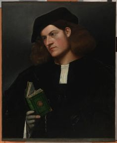 Giovanni Cariani, Portrait of a Young Man with a Green Book (Venezia, ca. 1510, De Young Museum, San Francisco)