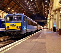 Ganz–MÁVAG Electric Locomotive in Budapest-Keleti Pályaudvar Railroad Station in Hungary