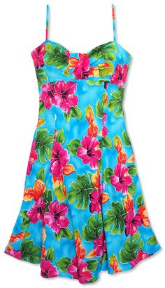 Super cute matching Hawaiian dresses for girls and women. Perfect ...