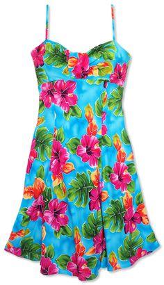 Busy Bees Hawaiian Dresses for keiki girls and junior girls|Sarong ...