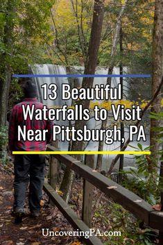 Beautiful waterfalls to visit near Pittsburgh, Pennsylvania Waterfalls In Pa, Beautiful Waterfalls, Beautiful Scenery, Beautiful Places, Amazing Places, Weekend Trips, Day Trips, Weekend Getaways, Cool Places To Visit