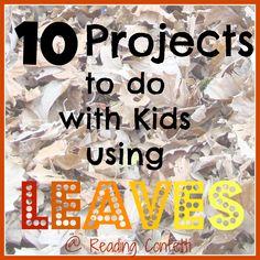 craft, idea, leaf project, 10 project, real leav, kid fun, kids, activ, leaves