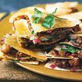 sausage and potato quesadillas  Have made this, soooooo good. A real keeper !