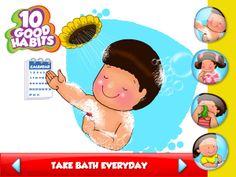 Kids application - 10 Good Habits on Behance Good Habits For Kids, Wallpaper Backgrounds, Behance