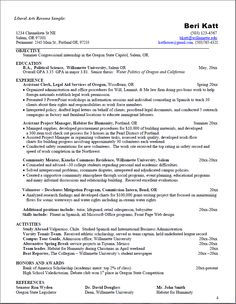 great example of a liberal arts resume want more information click on the link