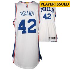 446d815e609 Elton Brand Philadelphia 76ers Fanatics Authentic Player-Issued  42 White  Jersey from the 2016