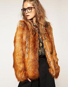 Fur coat. (Not real fur, faux fur. Fur is murder! I love how it looks though)