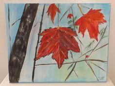 Acrylic on Canvas Maple Leaf