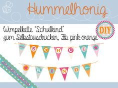 Wimpelkette+*Schulkind*+zum+Selberausdrucken+von+Hummelhonig+auf+DaWanda.com