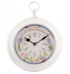 Reloj pared Shabby blanco lavandas
