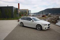 "ALPINE WHITE F11 BMW 5-series M-sport with 21"" Hartge Classic II wheels"
