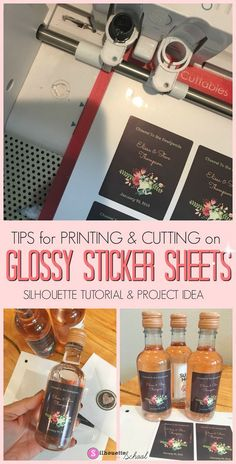 Silhouette America, Silhouette Cameo 4, Silhouette School Blog, Silhouette Cameo Tutorials, Silhouette Files, Silhouette Projects, Wine Bottle Favors, Diy Bottle, Bottle Stoppers
