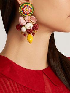 Daisy multi-charm drop earrings | Dolce & Gabbana | MATCHESFASHION.COM UK