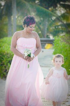 #pinkflowergirldress #pinkbridesmaiddress #beachwedding