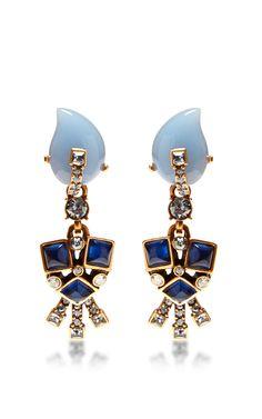 Resin Flower Earrings by Oscar de la Renta Now Available on Moda Operandi