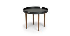 Trei Black / Walnut Coffee Table - Coffee Tables - Article   Modern, Mid-Century and Scandinavian Furniture