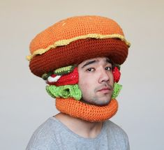 when you are bored, just wear crochet food hat... so to look more bored - BoredPanda