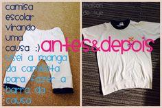 生まれ変わりました。 #リメイク #DIY #ハンドメイド #costumisando  #antesdepois  #maisondetye  Camiseta escolar eu transformei em um causa super confortável :) #facavcmesmo