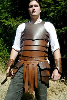 Banded Leather CuirassLeather Armor by LeatherArmorer on Etsy