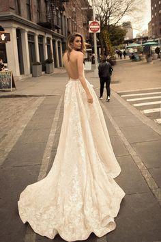 World Exclusive: Berta Wedding Dress Collection 2018 Sexy Wedding Dresses, Gorgeous Wedding Dress, Boho Wedding Dress, Wedding Gowns, Lace Wedding, Wedding Flowers, Berta Bridal, Bridal Gowns, Maroon Wedding
