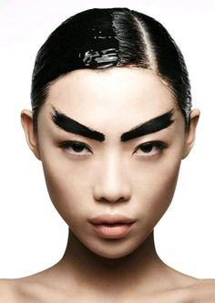 Paint brush eyebrows
