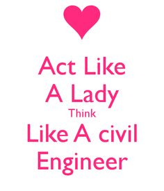 'Act Like A Lady Think Like A civil Engineer' Poster