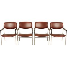 via BKLYN contessa :: gijs van der sluis :: c1960 :: leather chairs