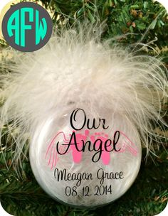 Memorial Baby Angel Ornament  Infant Loss by AFWifeCreations