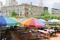 The best places for eating and drinking outside right now.