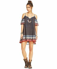 Free People Printed Babydoll Dress - Free People - Women - Macy's