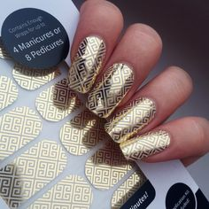 Greek Goddess Nail Wraps - Last up to 2 weeks and apply in minutes.